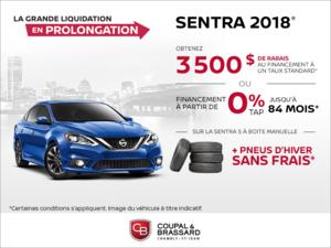 Obtenez la Nissan Sentra 2018 dès aujourd'hui!