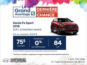Procurez-vous la Santa Fe Sport 2018!