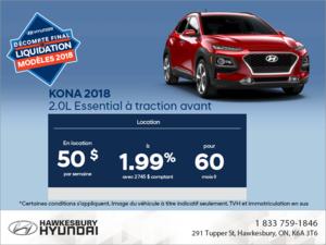 Louez la Kona 2018!