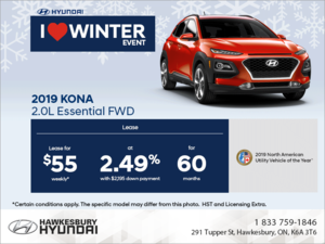 Lease the 2019 Kona!