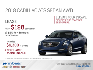 Elevate your escape - 2018 Cadillac ATS Sedan AWD