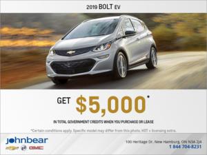 Get the 2019 Chevrolet Bolt