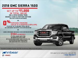 The 2018 GMC Sierra 1500