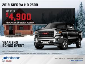 The 2019 Sierra 2500 HD