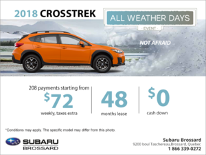 Lease the 2018 Crosstrek today!