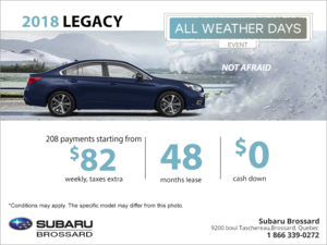 Lease the 2018 Legacy today!