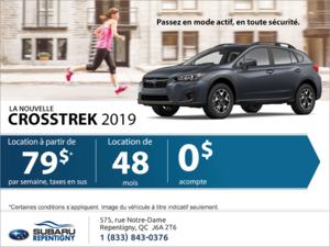 Obtenez le Crosstrek 2019!