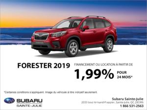 Procurez-vous la Subaru Forester 2019!