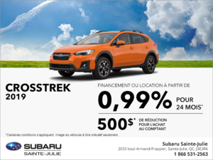 Procurez-vous la Subaru Crosstrek 2019!