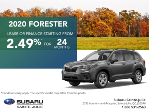 Get the 2020 Forester!
