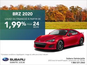 Procurez-vous la Subaru BRZ 2020!