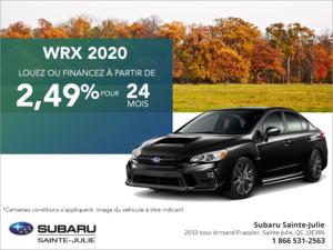 Procurez-vous la Subaru WRX 2020!