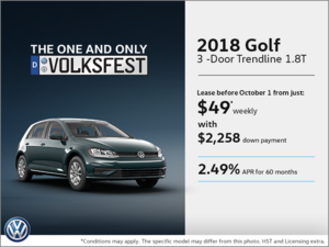 Get the 2018 Golf 3-Door Today!