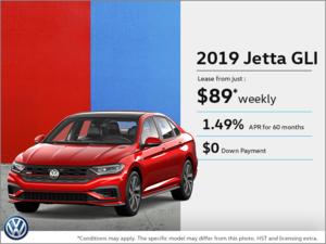 Lease the 2019 Jetta GLI