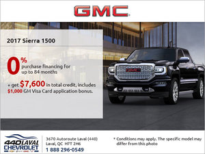 Get the 2017 GMC Sierra 1500 Today!