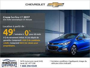 Le Chevrolet Cruze 2017 en rabais!