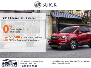Save on the 2017 Buick Encore!