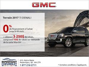 La GMC Terrain 2017 en rabais!