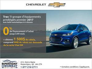 Le Chevrolet Trax 2017 en rabais!
