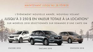 Promotion Buick Février 2018