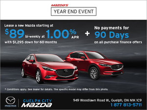 Monthly Sales Event at Guelph City Mazda!