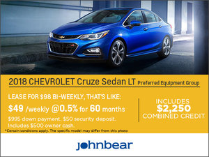 Save on the 2018 Chevrolet Cruze!