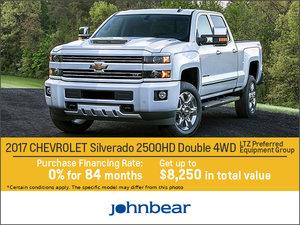 Huge Savings on the 2017 Chevrolet Silverado 2500HD!