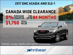 Save Big on the 2017 GMC Acadia