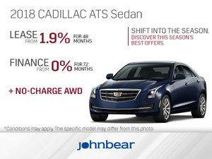Get the 2018 Cadillac ATS Sedan Today!