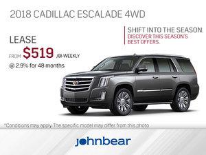 Get the 2018 Cadillac Escalade Today!