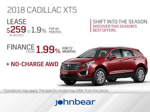 Get the 2018 Cadillac XT5 Today!