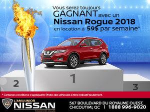 Nissan Rogue 2018 en location