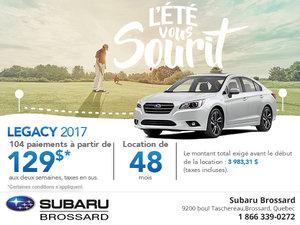 Achetez le Subaru Legacy 2017 aujourd'hui