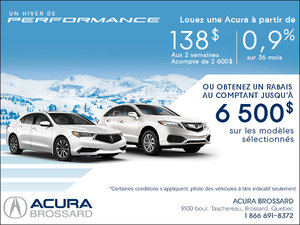 Un hiver de performance avec Acura!