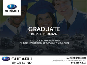 Subaru's Graduate Rebate Program