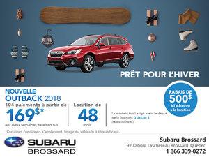 Achetez le Subaru Outback 2018 aujourd'hui!