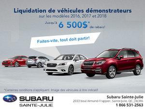 Liquidation de véhicules démonstrateurs!