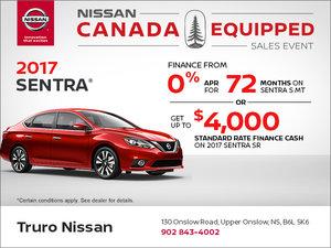Huge Savings on the 2017 Sentra!