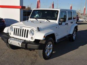 2015 Jeep Wrangler Unlimited SAHARA 4X4 2 TOITS GPS