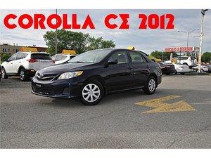 2012 Toyota Corolla CE A/C