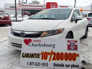 Honda Civic LX GARANTIE 10 ANS 200,000KM 2012 À PARTIR DE 47.51$ PAR SEMAINE!*