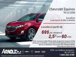 Chevrolet Equinox 2018 en Location!