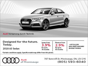 Save on the 2018 A3 Sedan!
