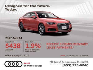 2017 Audi A4 Offer