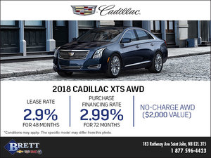 Save on the 2018 Cadillac XTS