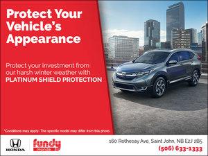 Honda's Platinum Shield Protection!