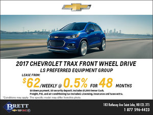 Save this Month on the 2017 Chevrolet Trax!