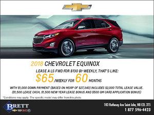 Big Savings on the 2018 Chevrolet Equinox!
