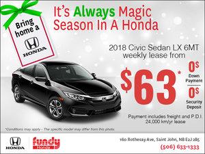 Drive Home the 2018 Honda Civic Now!