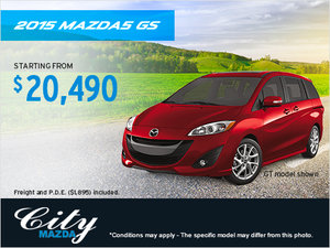 Get the 2015 Mazda5 GS today!